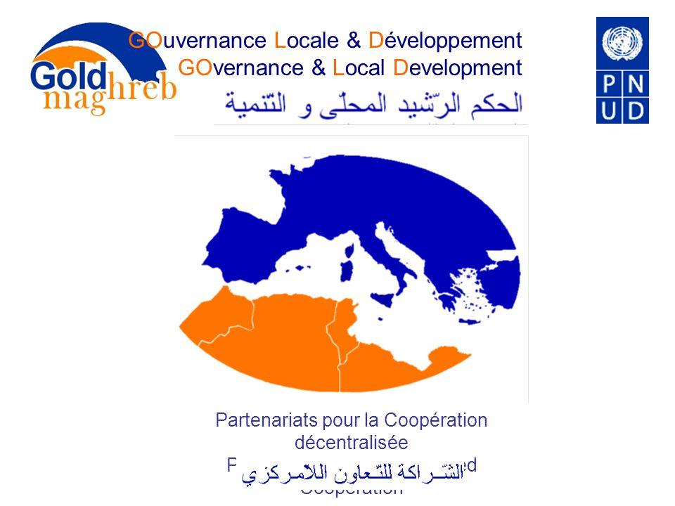 GOuvernance Locale & Développement GOvernance & Local Development Partenariats pour la Coopération décentralisée Partnerships for decentralised Cooper