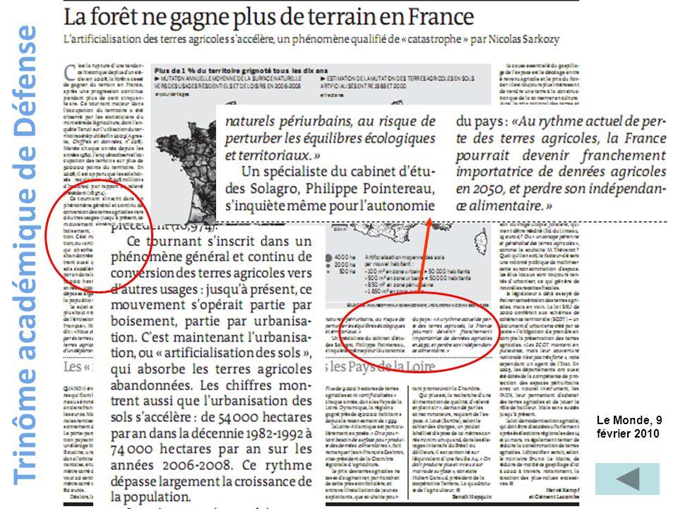 Trinôme académique de Défense Le Monde, 9 février 2010
