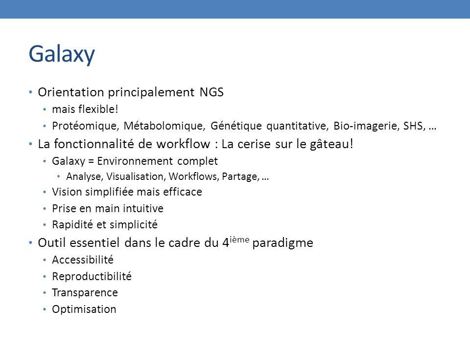 Galaxy Orientation principalement NGS mais flexible.