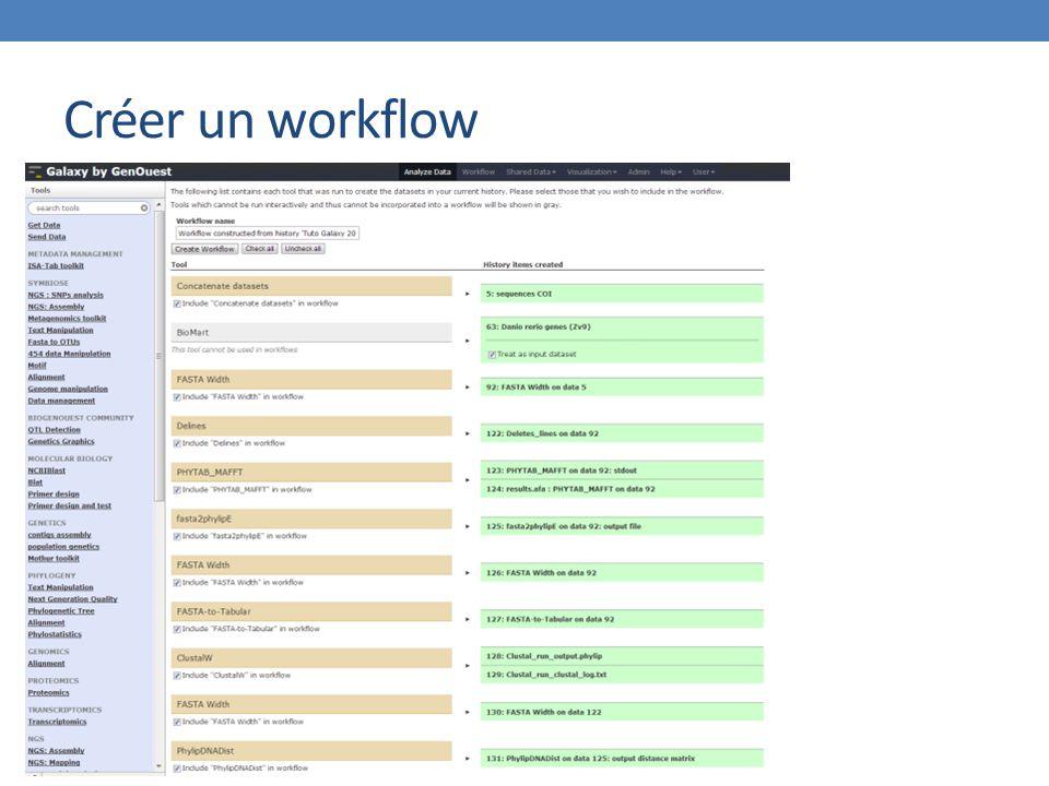 Créer un workflow