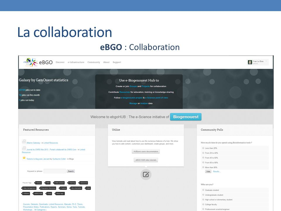 La collaboration eBGO : Collaboration