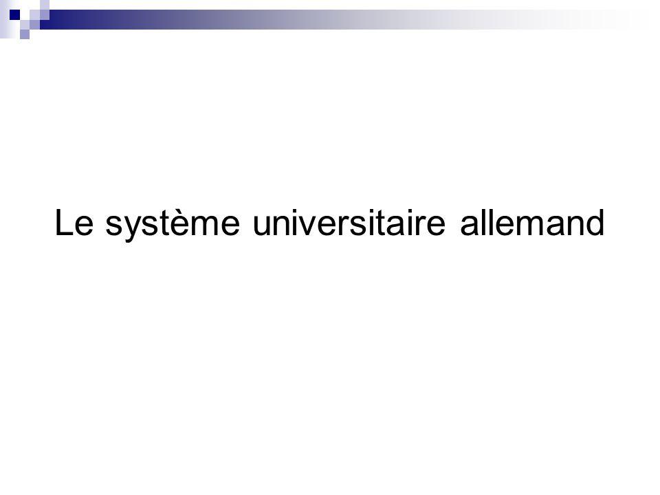 Le système universitaire allemand