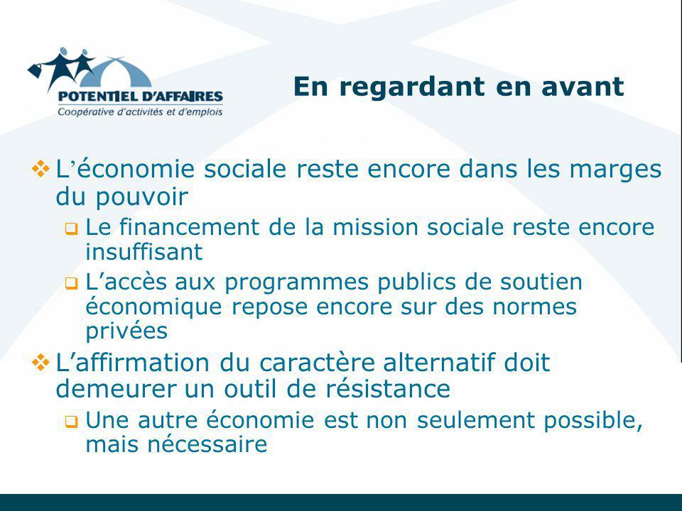Cinq défis de développement durable pour l'économie sociale 1.Des entrepreneurs collectifs 2.Des emplois de qualité 3.Des territoires solidaires 4.Des entreprises à l'avant-garde sur le front écologique 5.Des réseaux pour une mondialisation solidaire