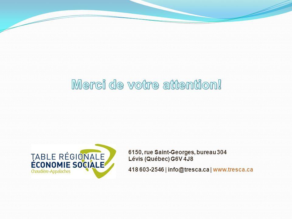 6150, rue Saint-Georges, bureau 304 Lévis (Québec) G6V 4J8 418 603-2546 | info@tresca.ca | www.tresca.ca