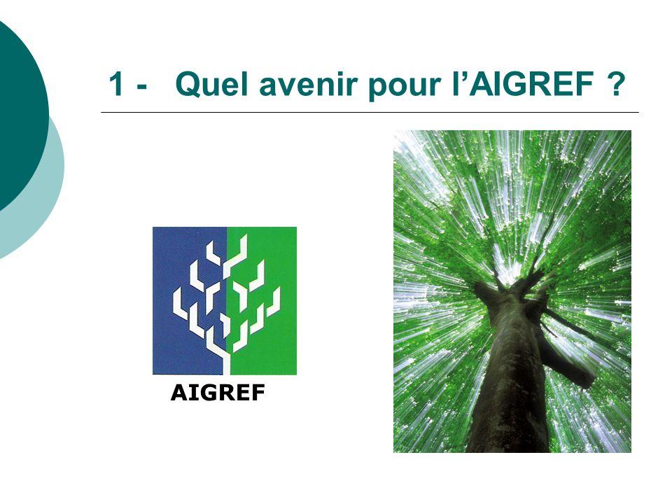 1 - Quel avenir pour l'AIGREF ? AIGREF
