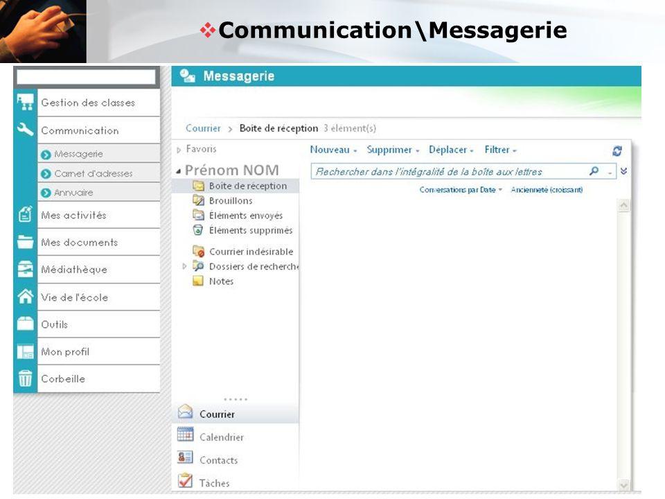  Communication\Messagerie