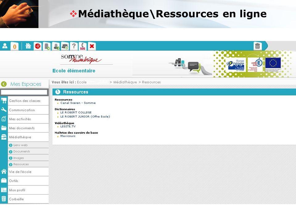  Médiathèque\Ressources en ligne