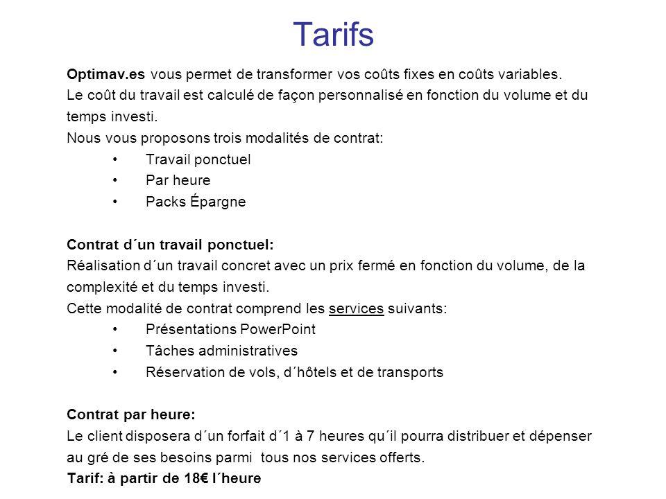 Tarifs Optimav.es vous permet de transformer vos coûts fixes en coûts variables.
