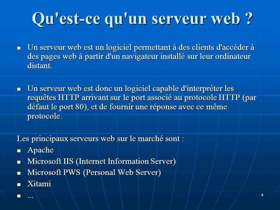Qu est-ce qu un serveur web .
