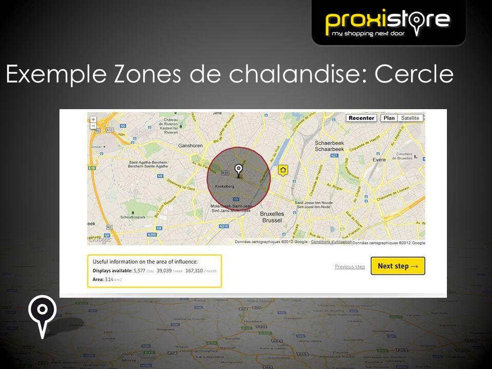 Exemple Zones de chalandise: Cercle