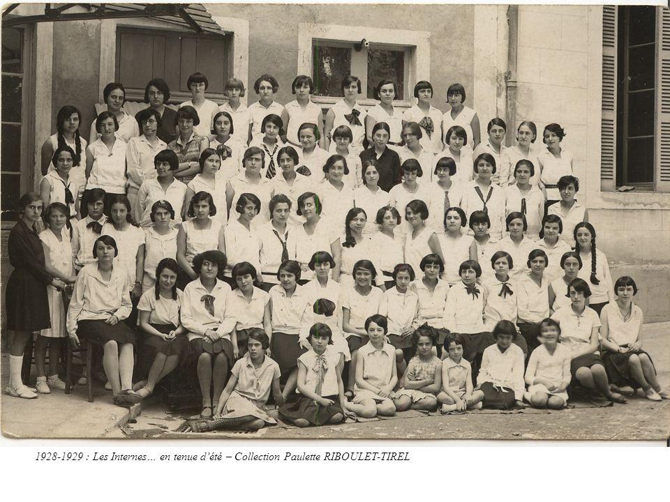 1928-1929 : Les Internes… en tenue d'été – Collection Paulette RIBOULET-TIREL
