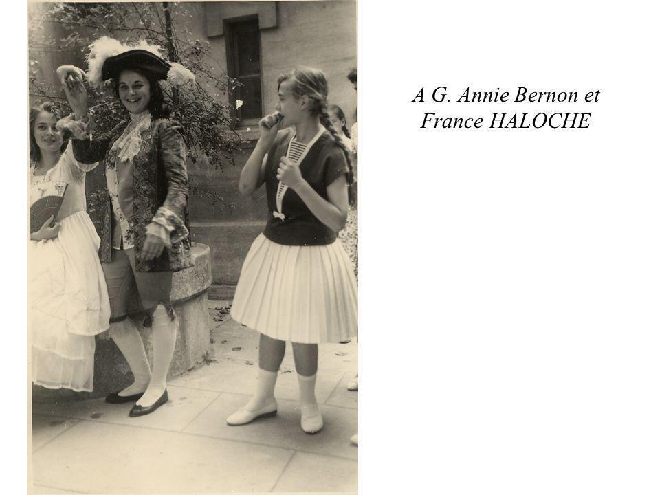 A G. Annie Bernon et France HALOCHE