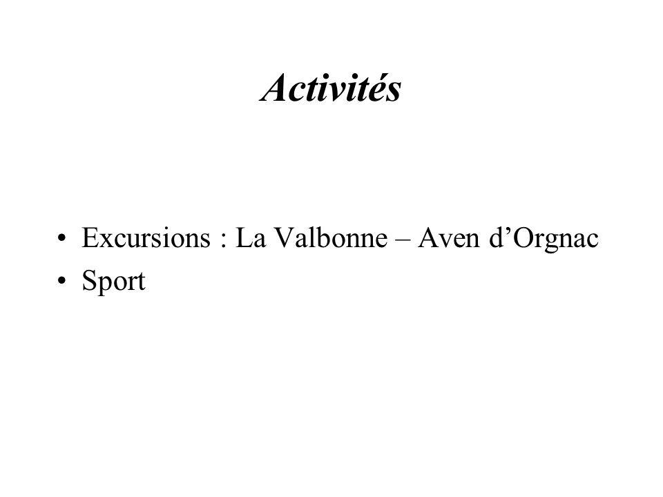 Activités Excursions : La Valbonne – Aven d'Orgnac Sport
