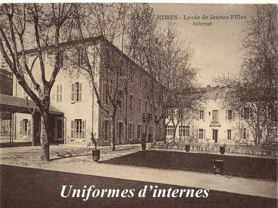 Uniformes d'internes