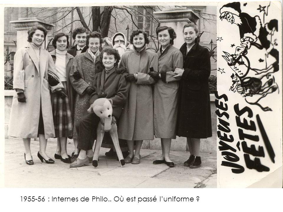 1955-56 : Internes de Philo.. Où est passé l'uniforme ?