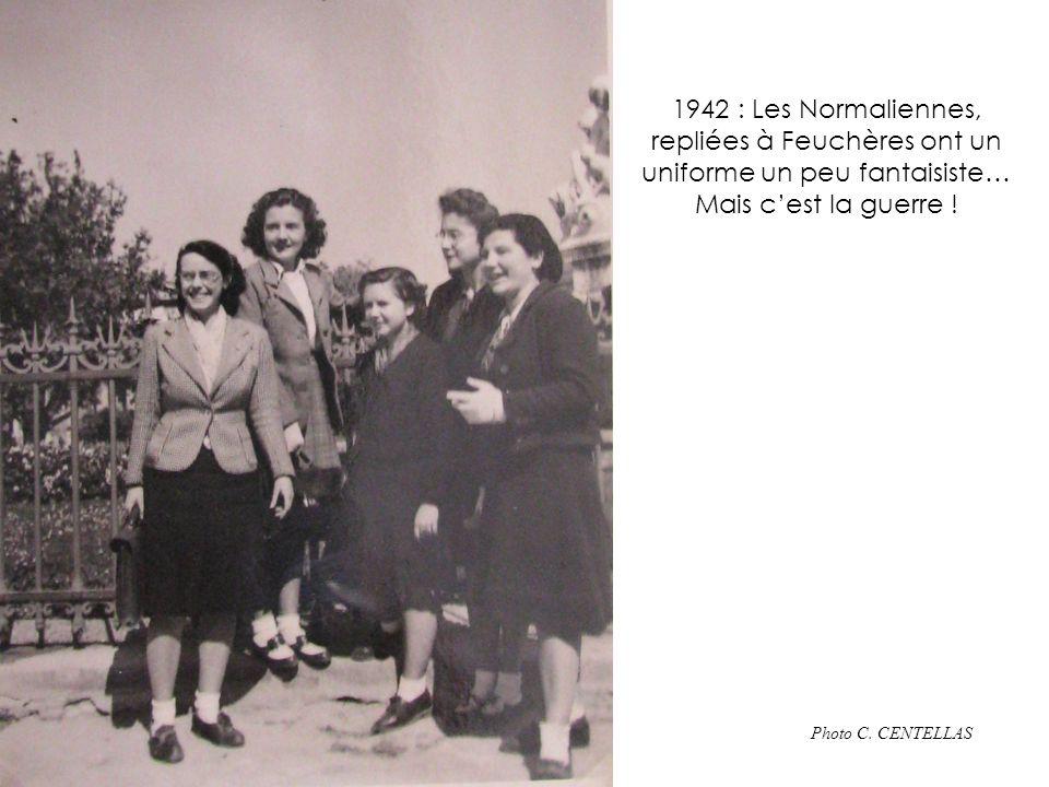 Années 50 : la cour des internes En arrière : Église Sainte Perpétue Suzette GRANGER 02-2010
