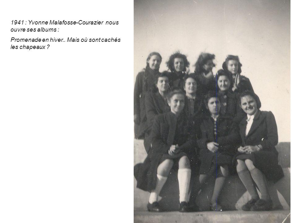 1941 : Yvonne Malafosse-Courazier nous ouvre ses albums : Promenade en hiver..