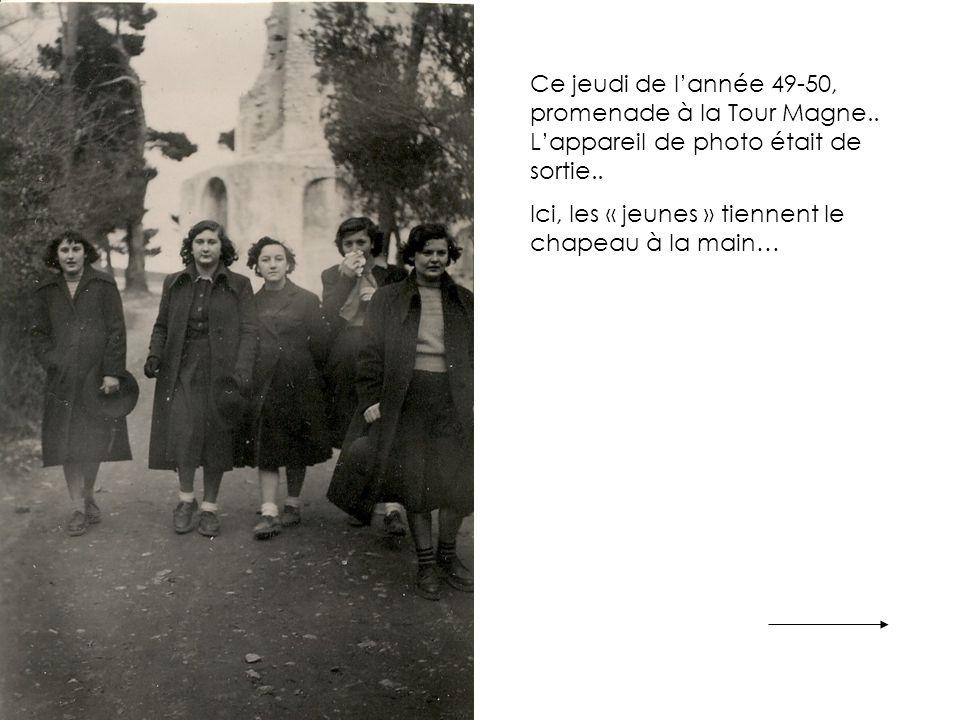 Ce jeudi de l'année 49-50, promenade à la Tour Magne..