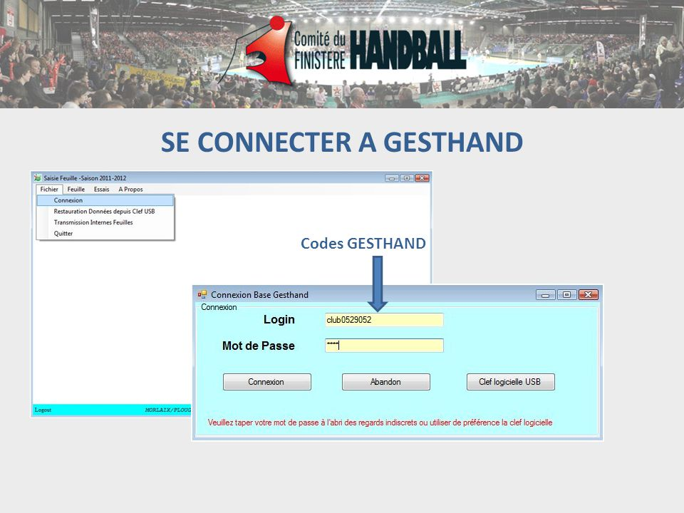 SE CONNECTER A GESTHAND