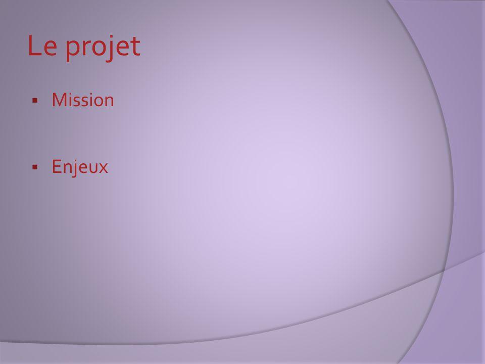 Le projet : la mission