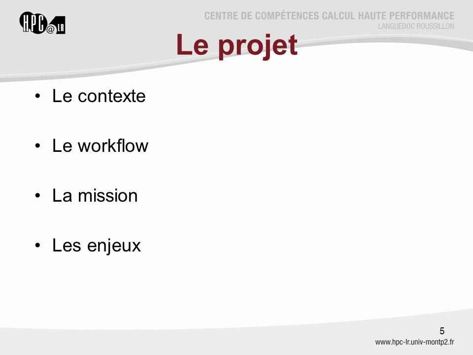Le projet Le contexte Le workflow La mission Les enjeux 5