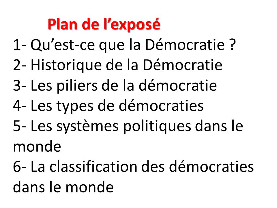 5- LES SYSTEMES POLITIQUES DANS LE MONDE 5- LES SYSTEMES POLITIQUES DANS LE MONDE C'est la manière dont les pouvoirs sont organisés dans un pays.