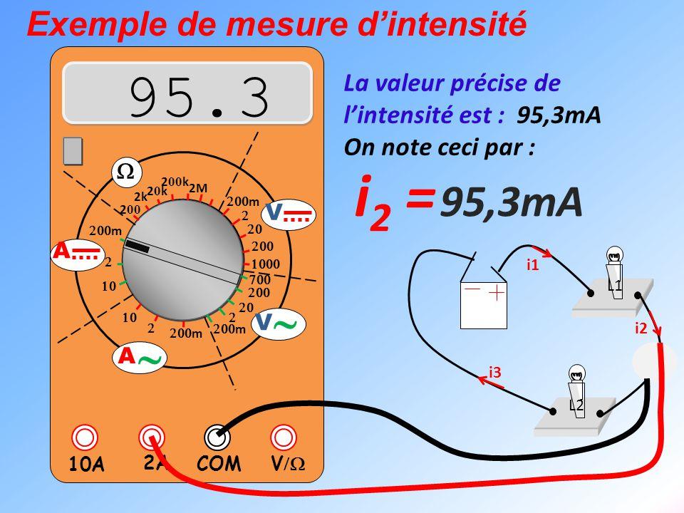 V  2A 10A COM      m    m 2k 20k20k 2 00 k 2 00 2M  m       m V V  A  A L1 L2 La valeur précise de l'intensité
