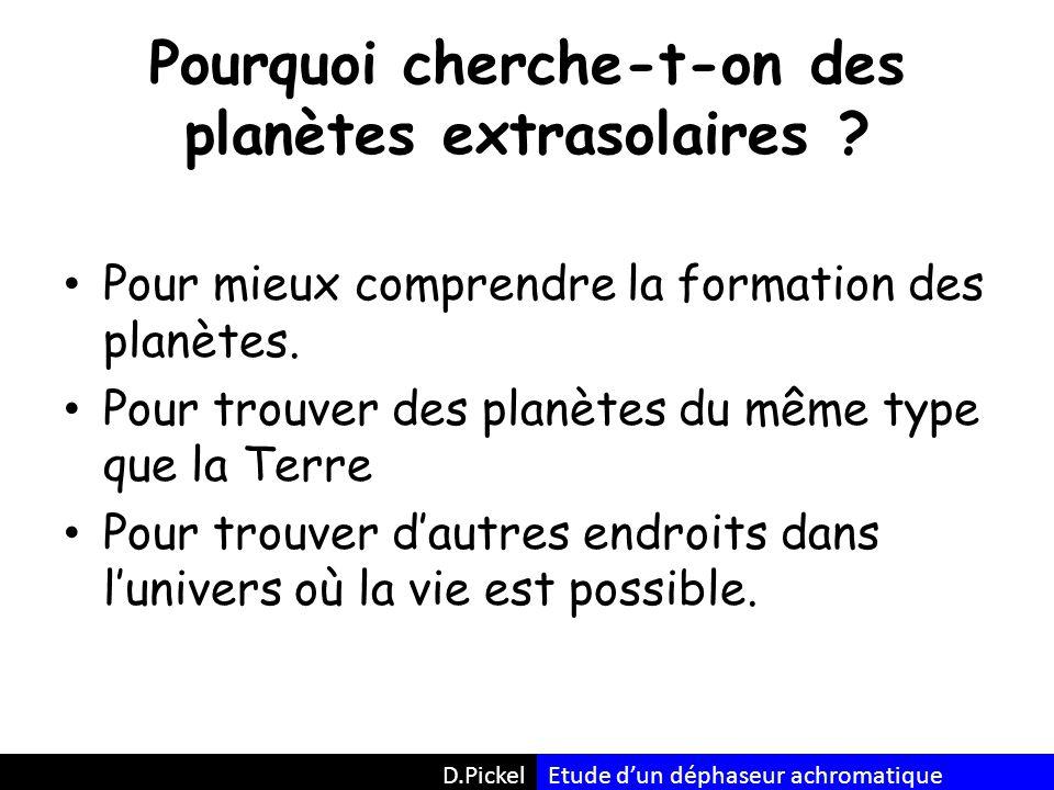 Pourquoi cherche-t-on des planètes extrasolaires .