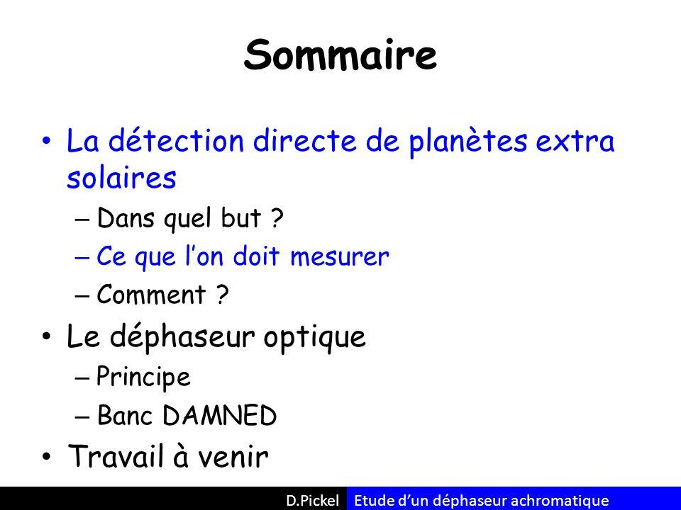 Le banc optique D.PickelEtude d'un déphaseur achromatique