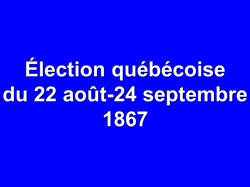 Élection québécoise du 22 août-24 septembre 1867