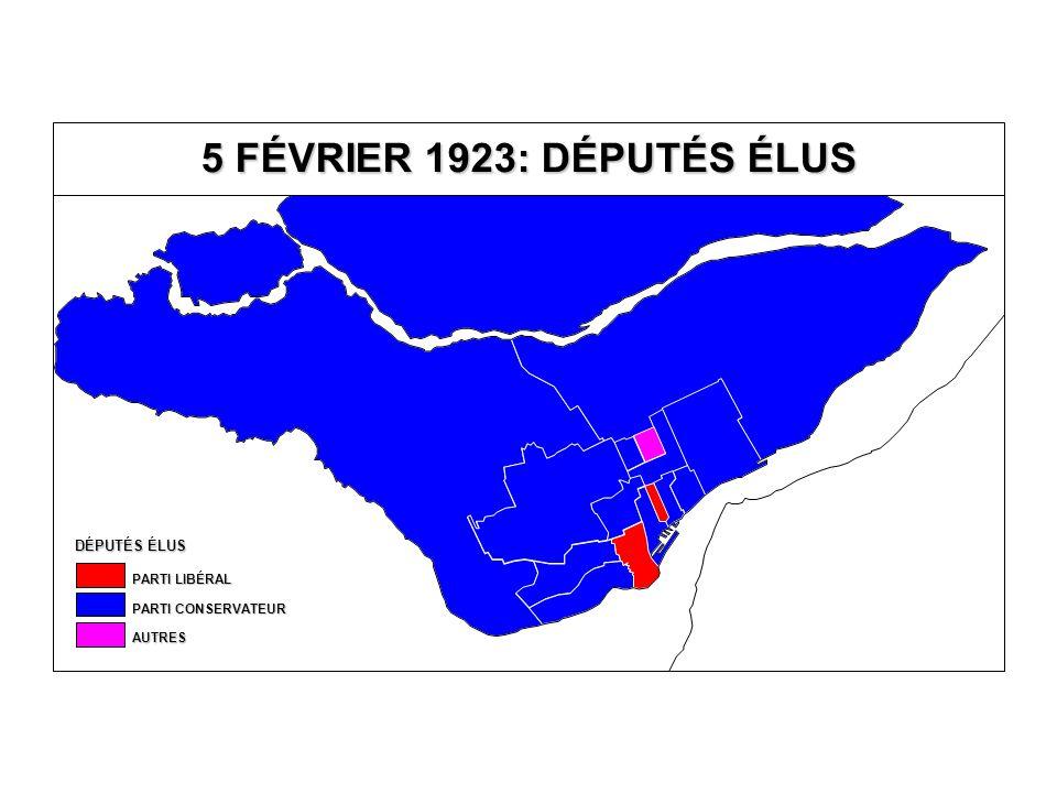 EN % DU TOTAL DES VOTES VALIDES VOTE AU PARTI CONSERVATEUR 40,0-49,9 % 30,0-39,9 % 20,0-29,9 % 10,0-19,9 % MOINS DE 10,0 % ÉLU SANS OPPOSITION 50,0 % ET PLUS Îles-de-la- Madeleine Québec T.-R.