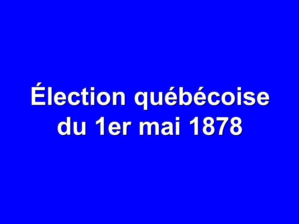Élection québécoise du 1er mai 1878