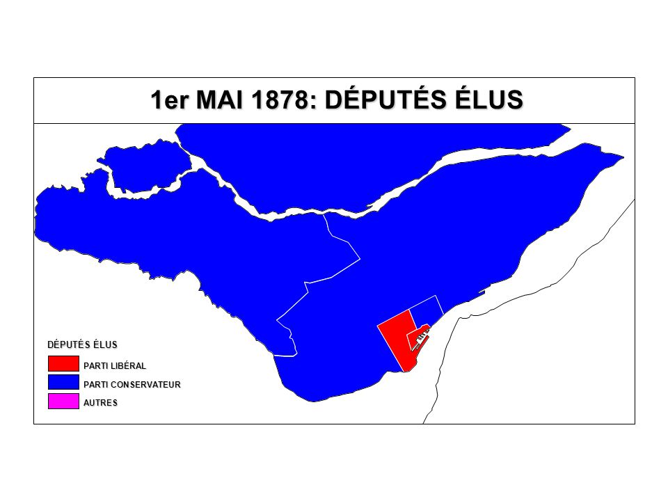 EN % DU TOTAL DES VOTES VALIDES VOTE AU PARTI CONSERVATEUR 40,0-49,9 % 30,0-39,9 % 20,0-29,9 % 10,0-19,9 % MOINS DE 10,0 % ÉLU SANS OPPOSITION 50,0 % ET PLUS Québec T.-R.