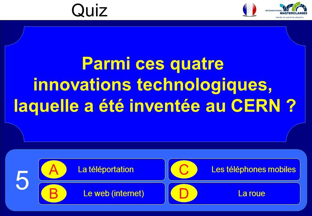 Quiz Parmi ces quatre innovations technologiques, laquelle a été inventée au CERN .
