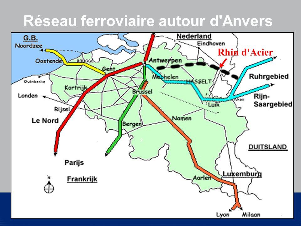 © National Bank of Belgium Réseau ferroviaire autour d Anvers Rhin d Acier