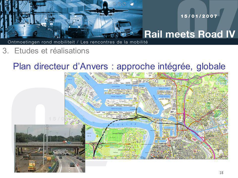 18 Plan directeur d'Anvers : approche intégrée, globale 3.Etudes et réalisations