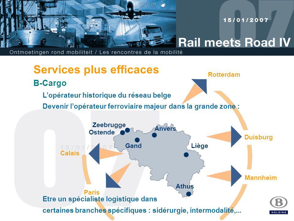 8 Allemagne Italie France Belgique Services plus efficaces Opérateur de grands corridors pour flux massifs sur grands axes internationnaux