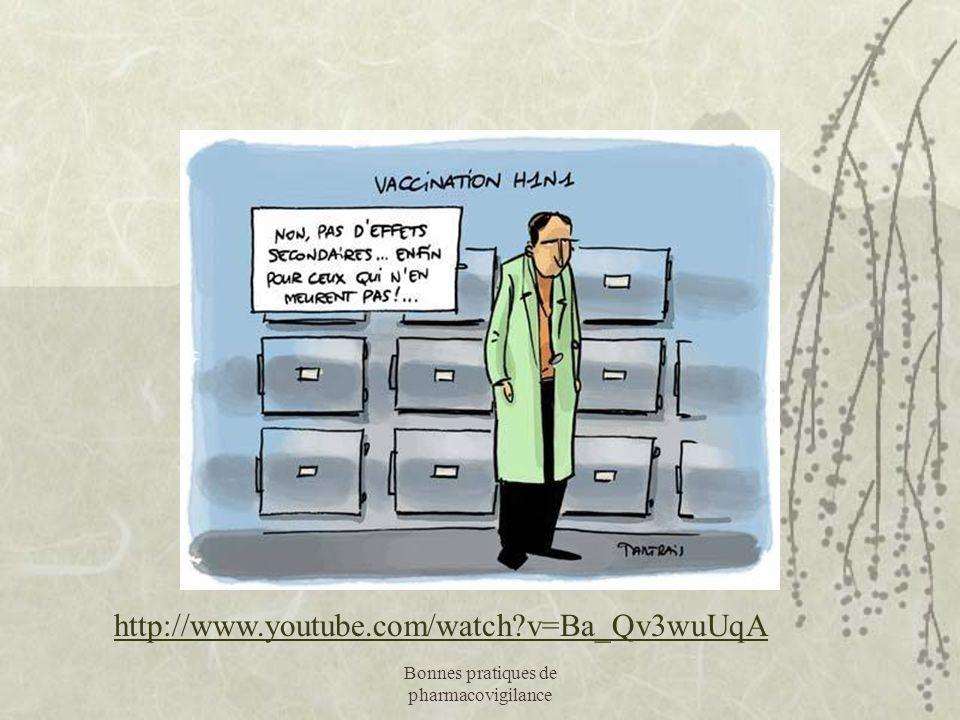 Bonnes pratiques de pharmacovigilance http://www.youtube.com/watch?v=Ba_Qv3wuUqA