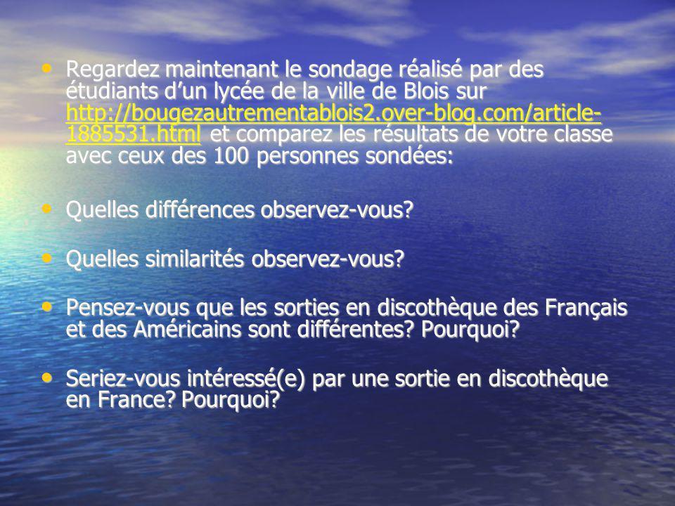 Regardez maintenant le sondage réalisé par des étudiants d'un lycée de la ville de Blois sur http://bougezautrementablois2.over-blog.com/article- 1885