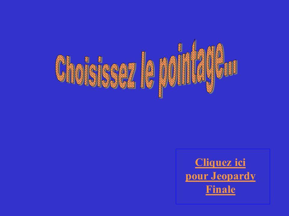 (Bravo . Chapter 6.3) Choisissez une catégorie. On vous montrera la réponse.