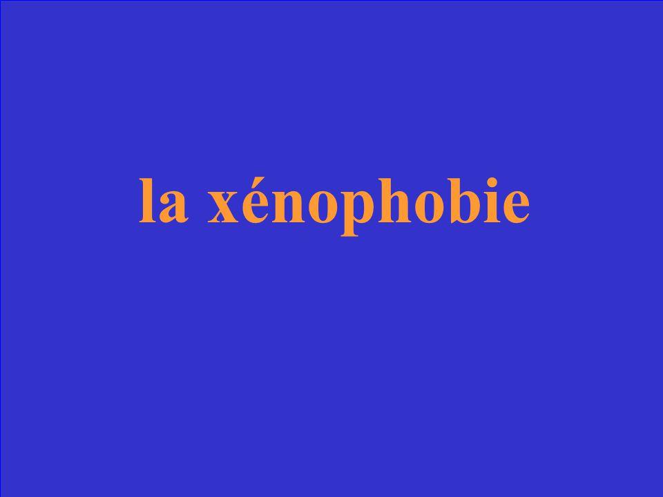 anglais: xenophobia