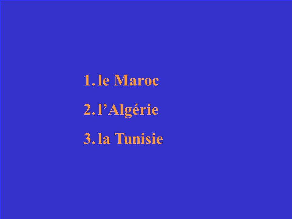 les trois pays du Maghreb
