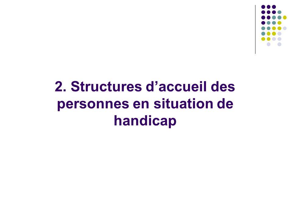 2. Structures d'accueil des personnes en situation de handicap