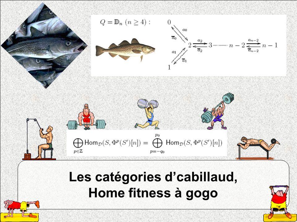 Les catégories d'cabillaud, Home fitness à gogo