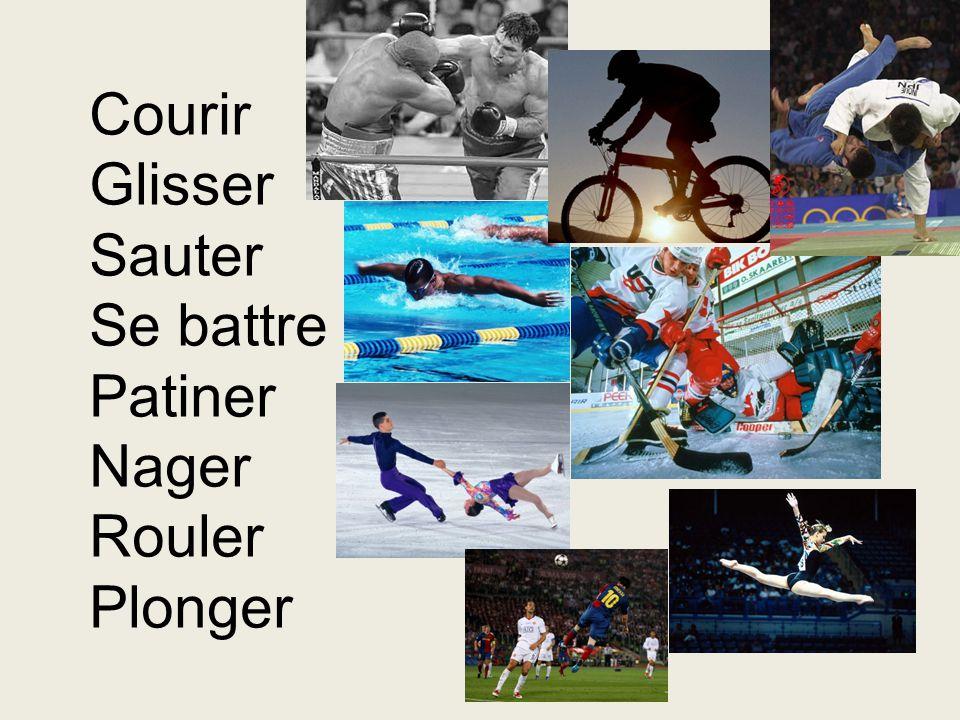 Faites un nom: Jouer – Nager – Supporter – Vaincre – Lutter - Aimer – Sauter – Tirer - un joueur un nageur un supporteur un vainqueur un lutteur un amateur un sauteur un tireur