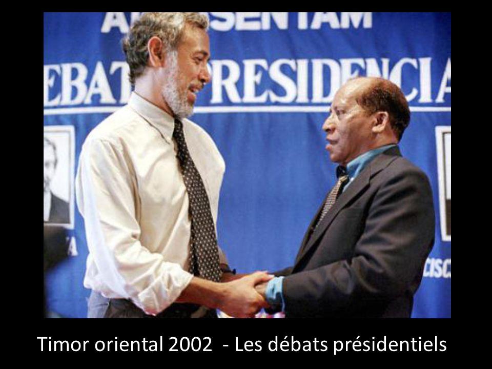 Timor oriental 2002 - Les débats présidentiels