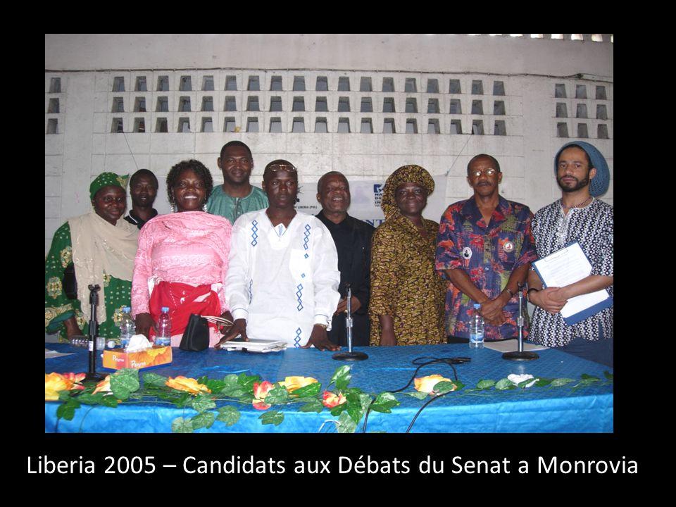 Liberia 2005 – Candidats aux Débats du Senat a Monrovia