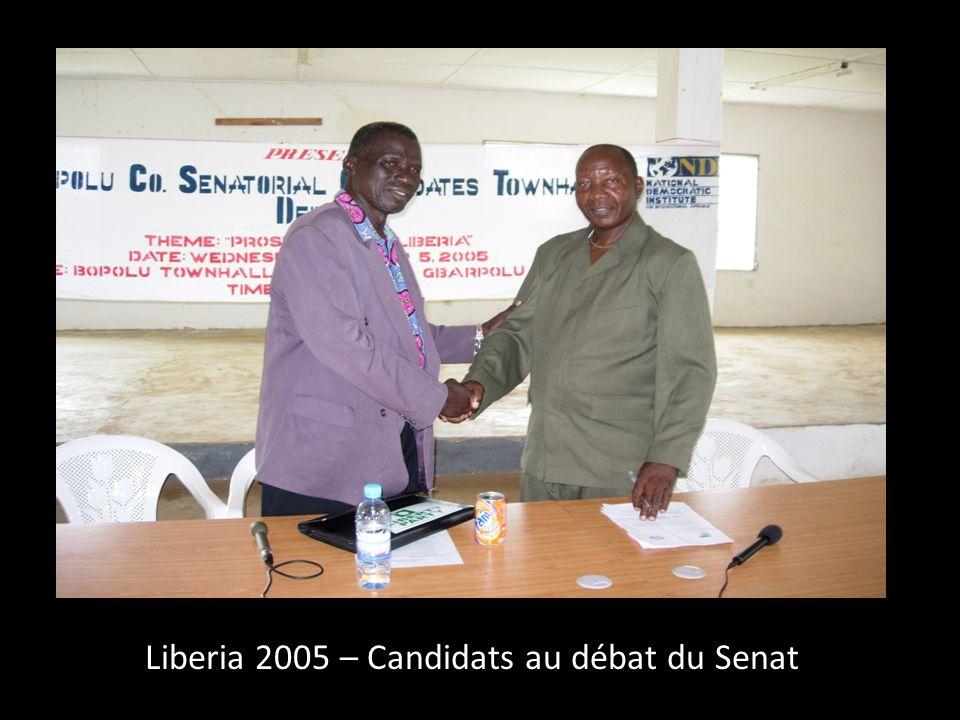 Liberia 2005 – Candidats au débat du Senat