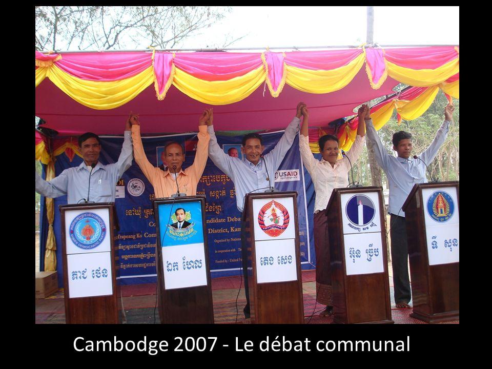 Cambodge 2007 - Le débat communal