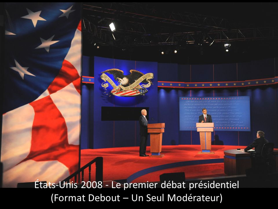 États-Unis – Troisième Débat Presidentiel 2008 (Format Assis – Un seul modérateur)